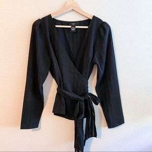 Vici Black Wrap Long Sleeve Shirt